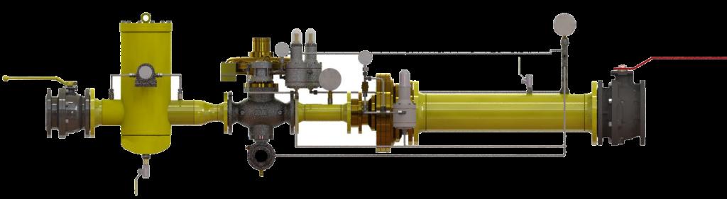 """Система """"Регулятор + регулятор-монитор""""(модуль спаренных/сдвоенных регуляторов давления газ)"""